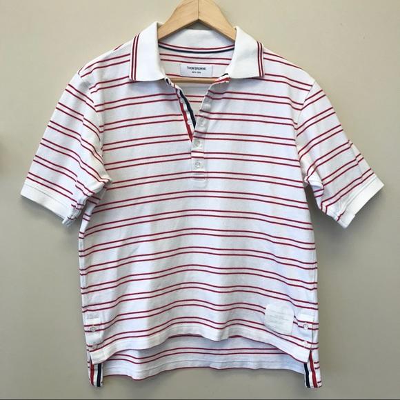 9e2740ed Thom Browne Men Striped Polo Shirt. M_5c4b42930cb5aa1eeb285492